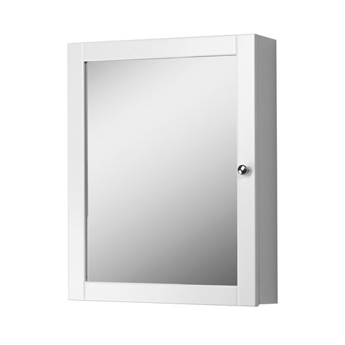 "19"" Columbia Mirrored Medicine Cabinet - White <small>(#COWC1924)</small>"