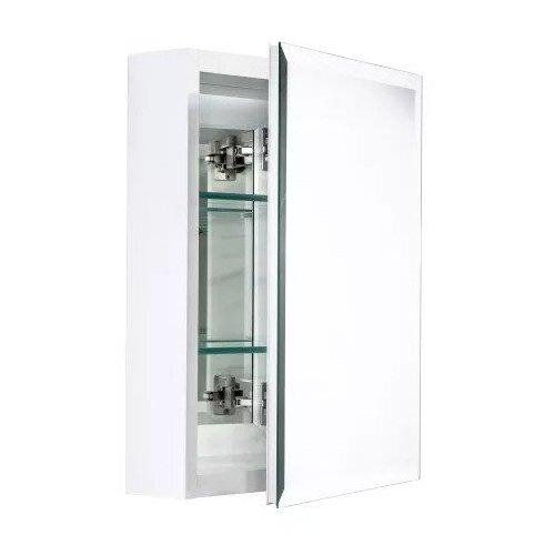 "Miseno Dual Mount 20"" X 16"" Beveled Medicine Cabinet - White MMBC2016WH"