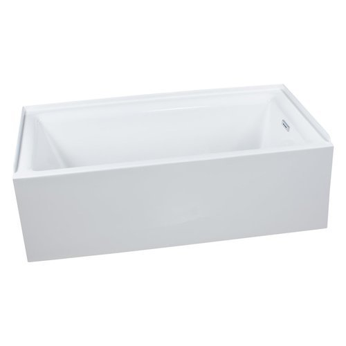 "Vitality 60"" Alcove Soaking Bathtub with Self-Leveling Base - Overflow Drain Trim Kit Included Free - White <small>(#MNO3060WASRWH)</small>"
