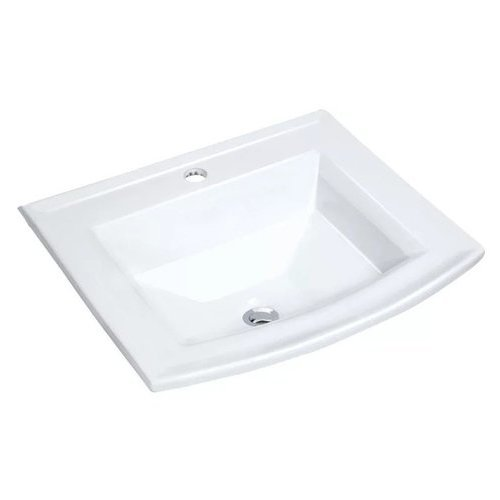 """22-5/8"""" Drop In Bathroom Sink with 1 Hole Drilled and Overflow - White <small>(#MMLD23201W)</small>"""