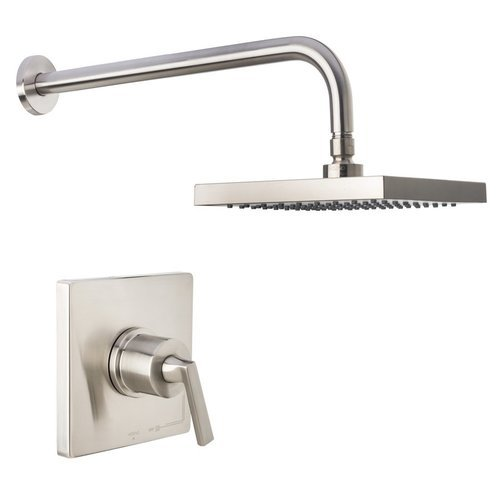 Elysa Shower Trim Package with Single Function Rain Shower Head R - Brushed Nickel <small>(#MS650625RBN)</small>