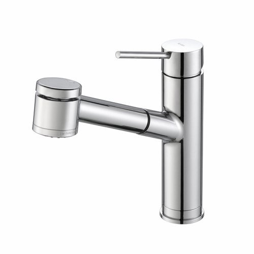 Oletto One Handle Pull-Out Kitchen Faucet-Chrome <small>(#KPF-2610CH)</small>