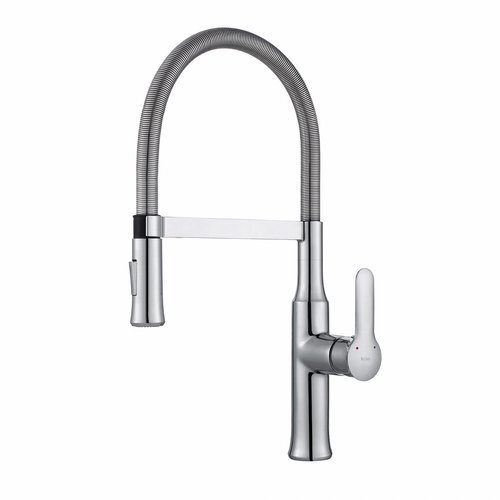 Nola Commercial Style One Handle Kitchen Faucet-Chrome <small>(#KPF-1640CH)</small>