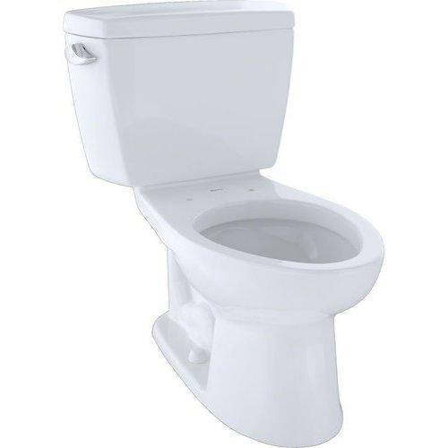 Drake Two-Piece Elongated 1.6 GPF ADA Compliant Toilet - Cotton White <small>(#CST744SL#01)</small>