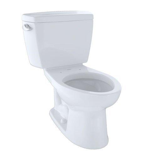 Drake Two-Piece Elongated 1.6 GPF Toilet - Cotton White <small>(#CST744S#01)</small>