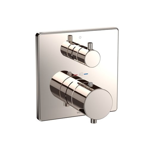 Thermostatic Mixing Valve For Shower Mixer With Diverter: TOTO Square Thermostatic Mixing Valve With Two-Way