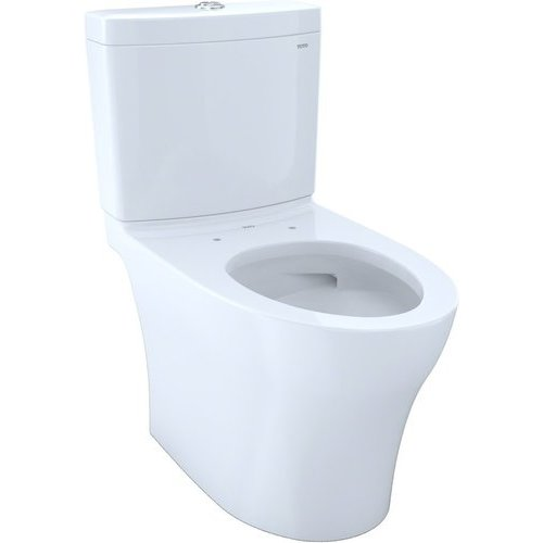 Aquia IV Two-Piece Elongated Dual Flush 1.28 and 0.8 GPF Skirted Toilet with CeFiONtect, Cotton White <small>(#CST446CEMG#01)</small>