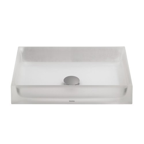 Luminist Rectangular Vessel Bathroom Sink - Frosted White <small>(#LLT151#61)</small>
