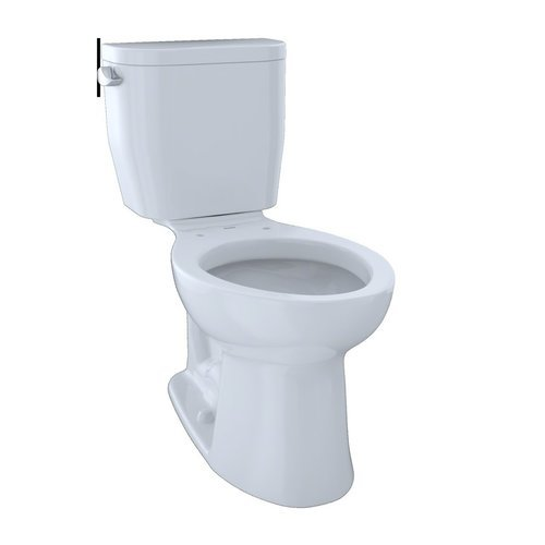 Entrada Two-Piece Elongated 1.28 GPF Universal Height Toilet - Cotton White <small>(#CST244EF#01)</small>
