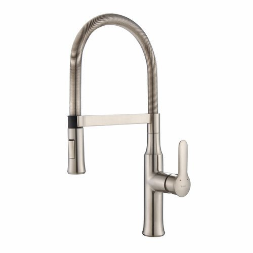 Nola Commercial Style One Handle Kitchen Faucet-Stainless <small>(#KPF-1640SS)</small>