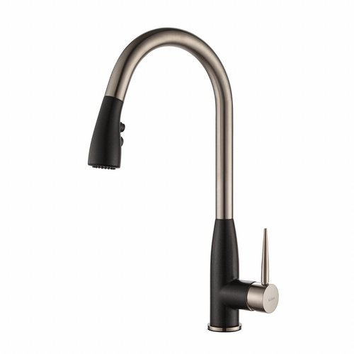 Geo Arch One Handle Pull-Out Kitchen Faucet & Soap Dispense <small>(#KPF-1702-KSD-42SS)</small>
