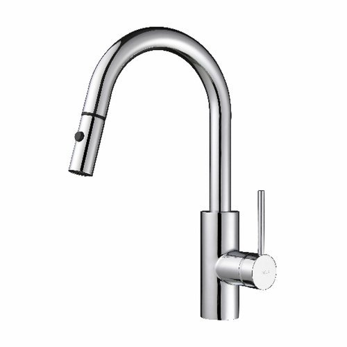 Oletto One Handle Pull-Out Kitchen Faucet - Chrome <small>(#KPF-2620CH)</small>