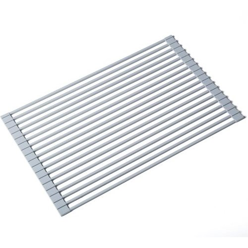 Multipurpose Over Sink Roll-Up Dish Drying Rack Gray <small>(#KRM-10GREY)</small>
